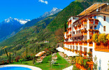 Hotel Rimmele in Dorf Tirol in South Tyrol with mountain view
