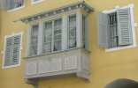 Oriel of a house in the Old Town of Merano.