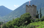 The Pulverturm is the starting point of the Tappeiner Trail in Merano.