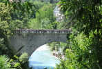 The Steinerne Steg is an arch bridge from the middle age across the river Passer in Merano.
