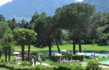 Spa gardens of the thermal baths of merano.